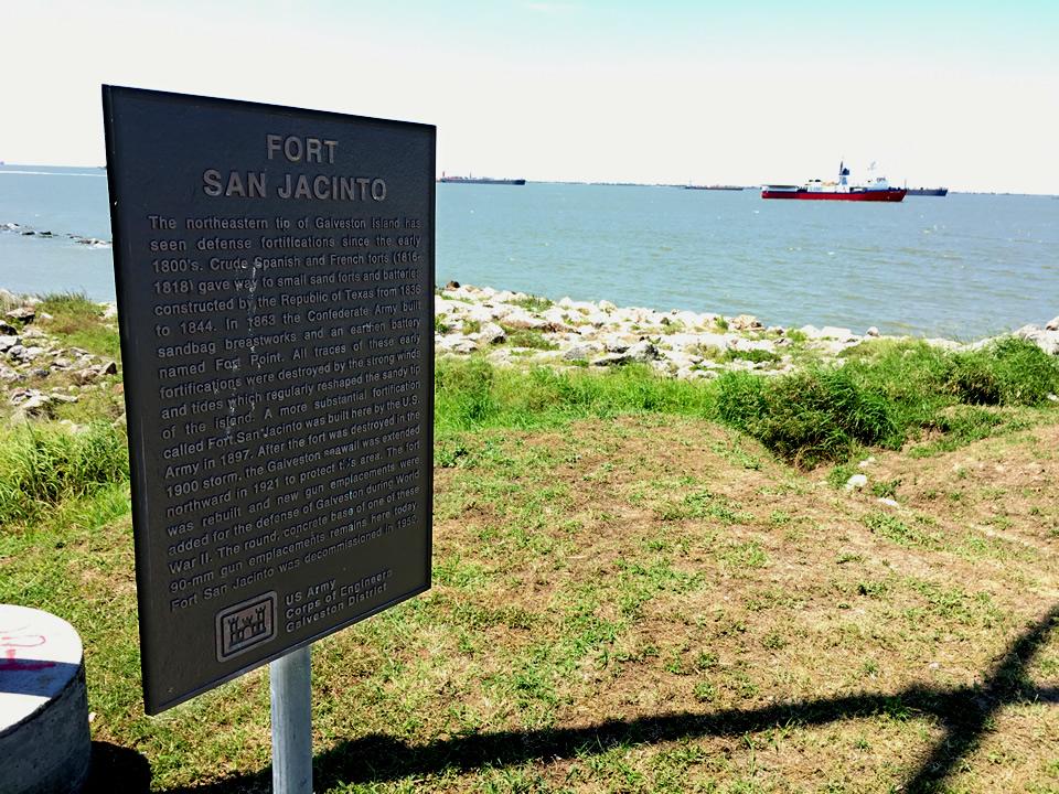Fort San Jacinto Historical Marker