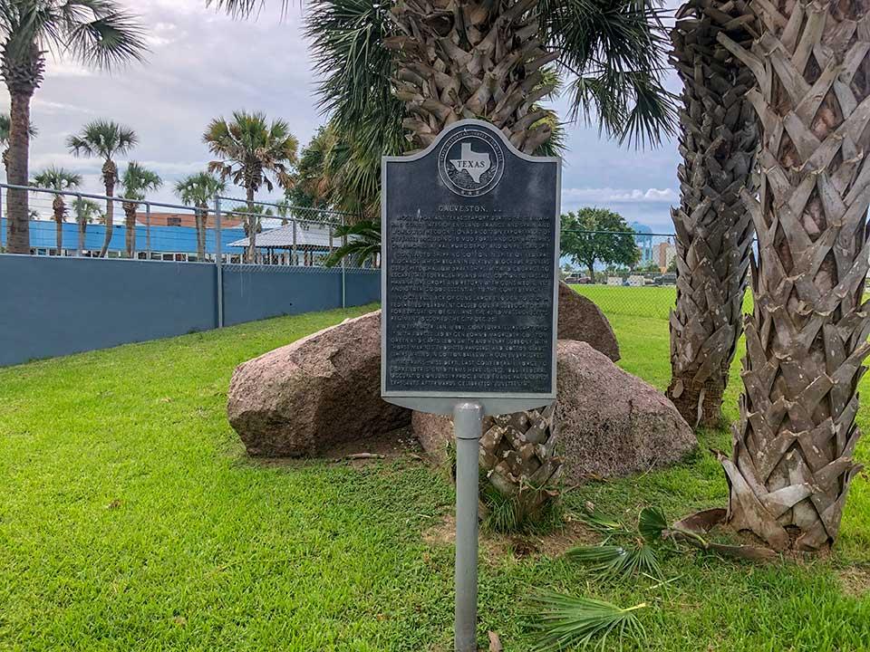 Galveston CSA Historical Marker
