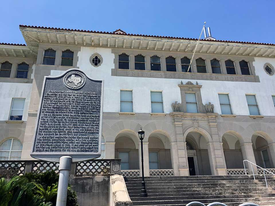 Galveston Immigration Stations Historical Marker