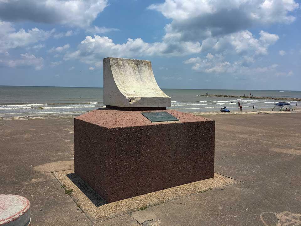 Galveston Seawall and Grade Raising Historical Marker