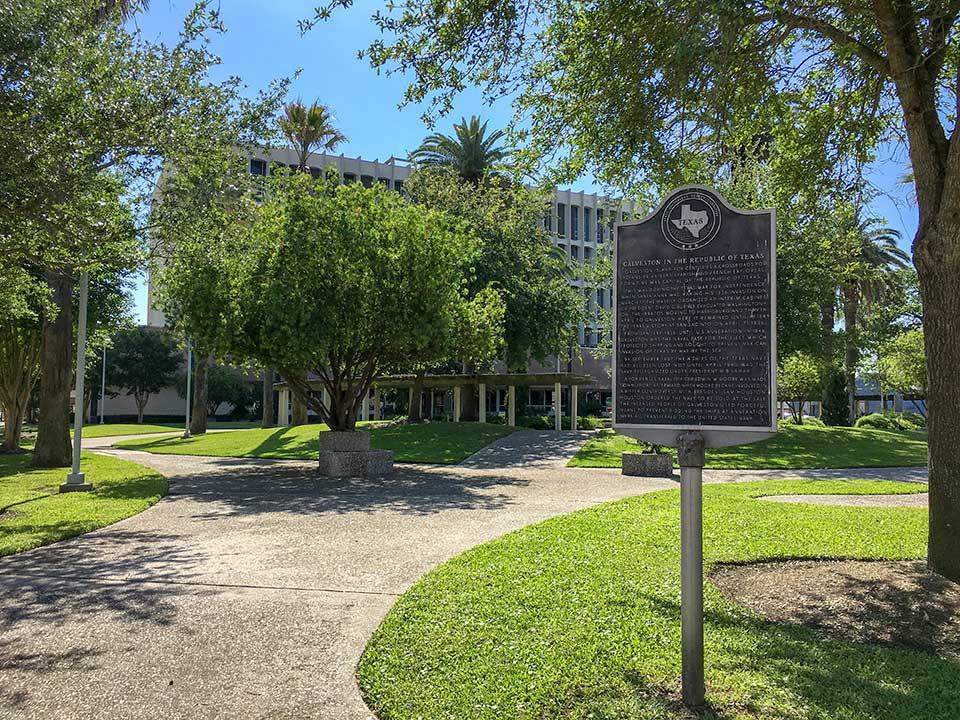 Galveston in the Republic of Texas Historical Marker