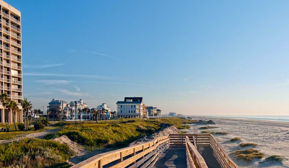Galvestonian Beachtown Sunrise
