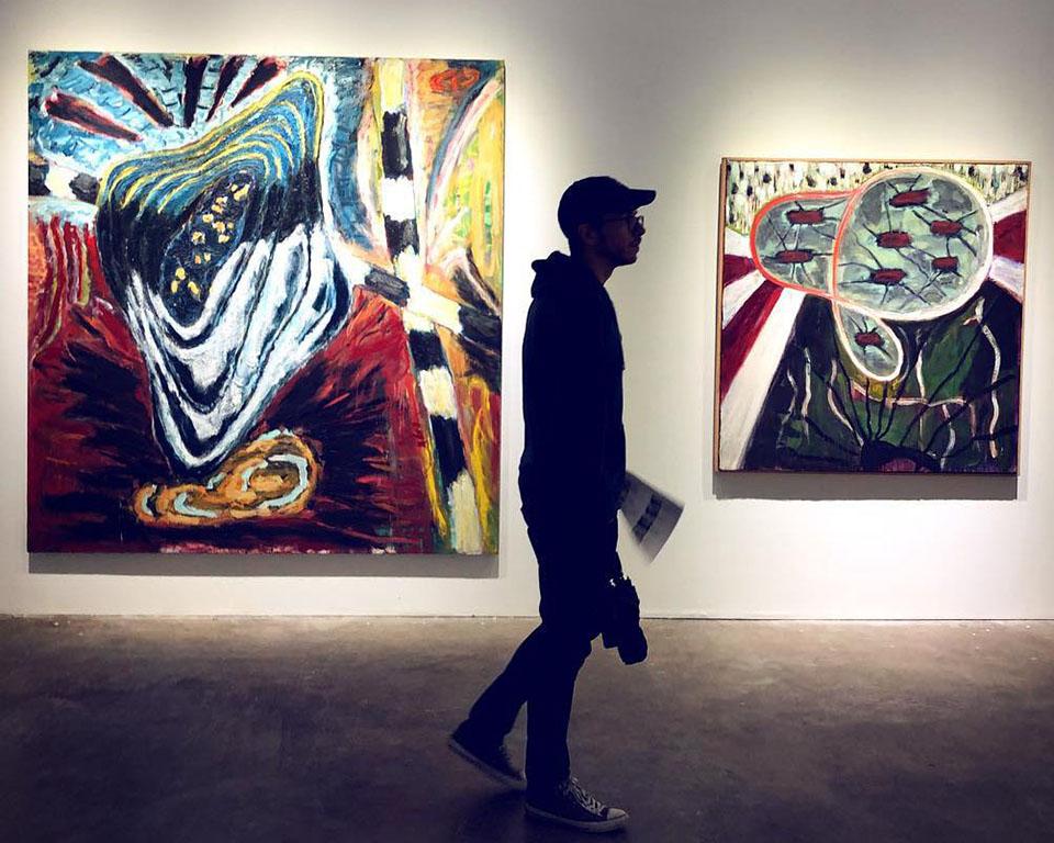 Guy in an Art Gallery