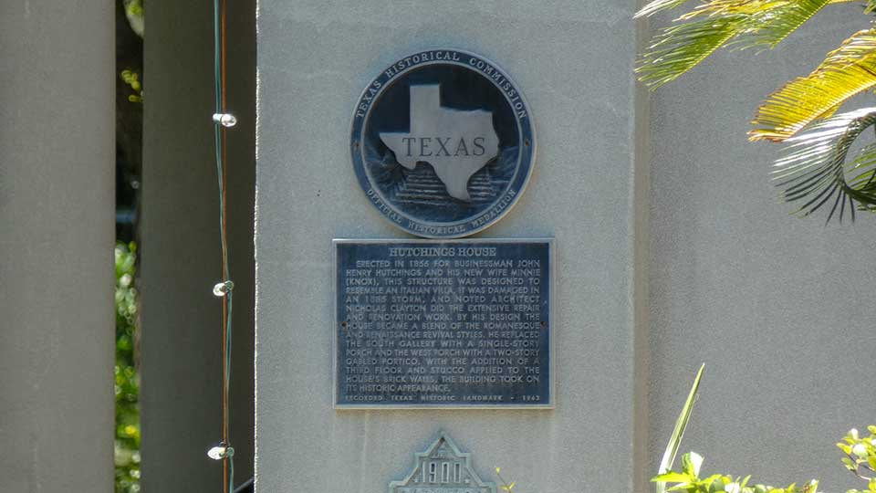 Hutchings House Medallion Historical Marker