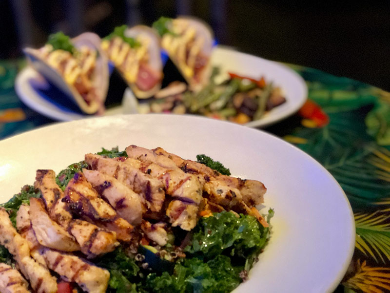 Kale and Quinoa Salad with Chicken from Rainforest Cafe