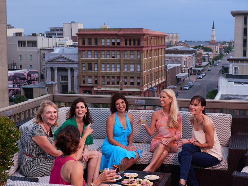 Ladies at Rooftop Bar at Tremont House