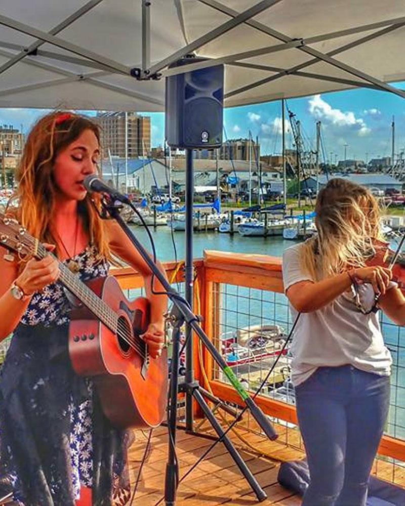 Band Playing on deck at Marina Bar & Grill