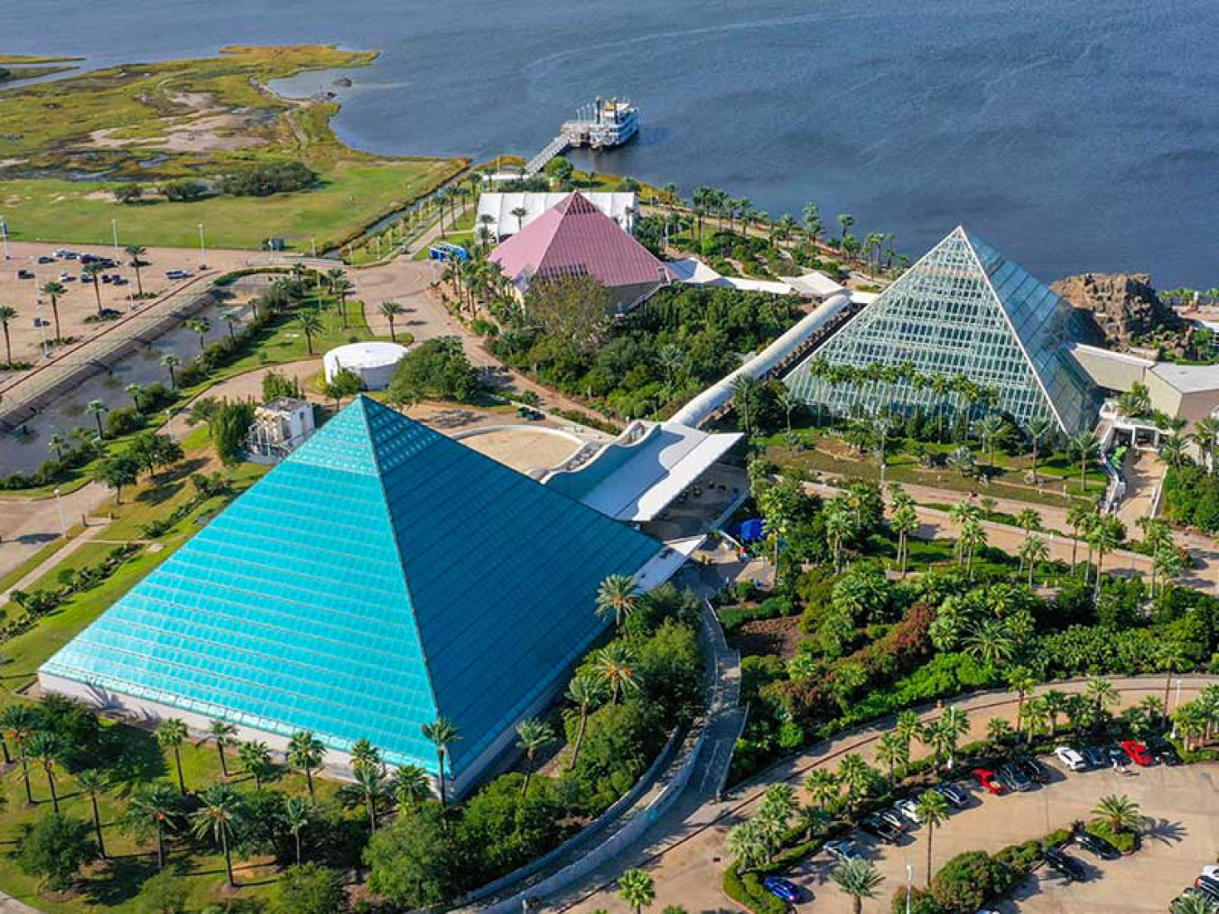 Moody Gardens Pyramids and Colonel