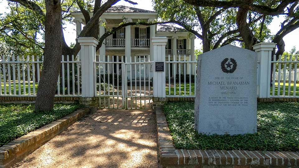 Site of the Home of Michael Branaman Menard Historical Marker