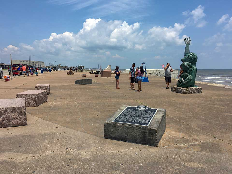 The Original Galveston Seawall Historical Marker