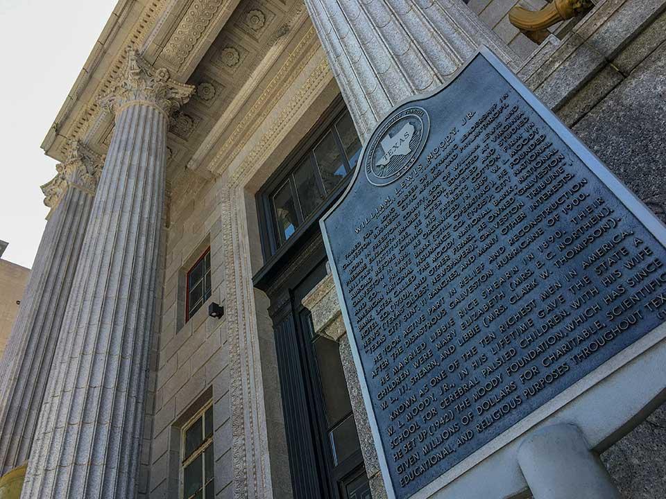 William Lewis Moody Jr Historical Marker