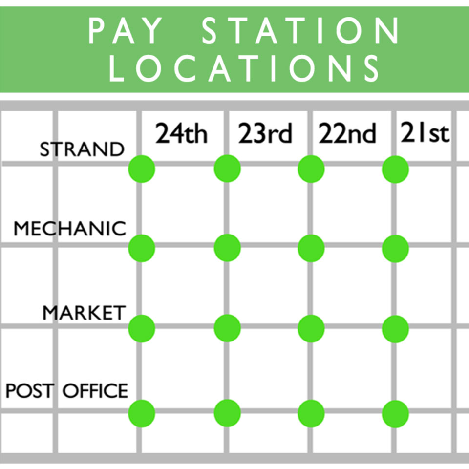 Map of Downtown Pay Stations