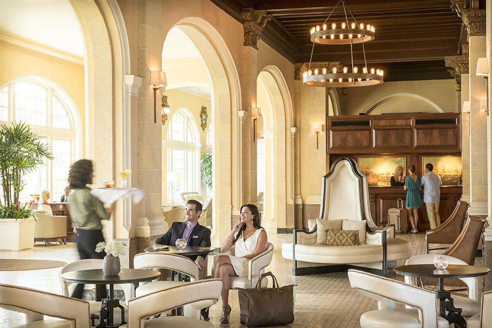 Couple in Lobby of Hotel Galvez