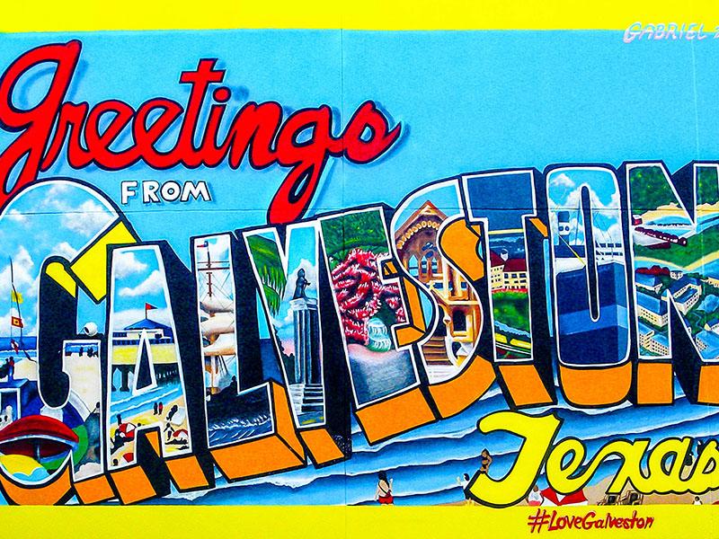 Greetings from Galveston Mural