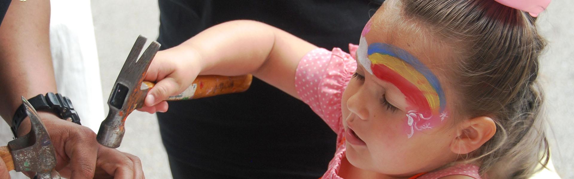 Little Girl at The Grand Kids Festival
