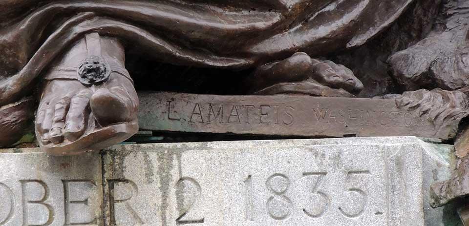 Louis Amateis Inscription