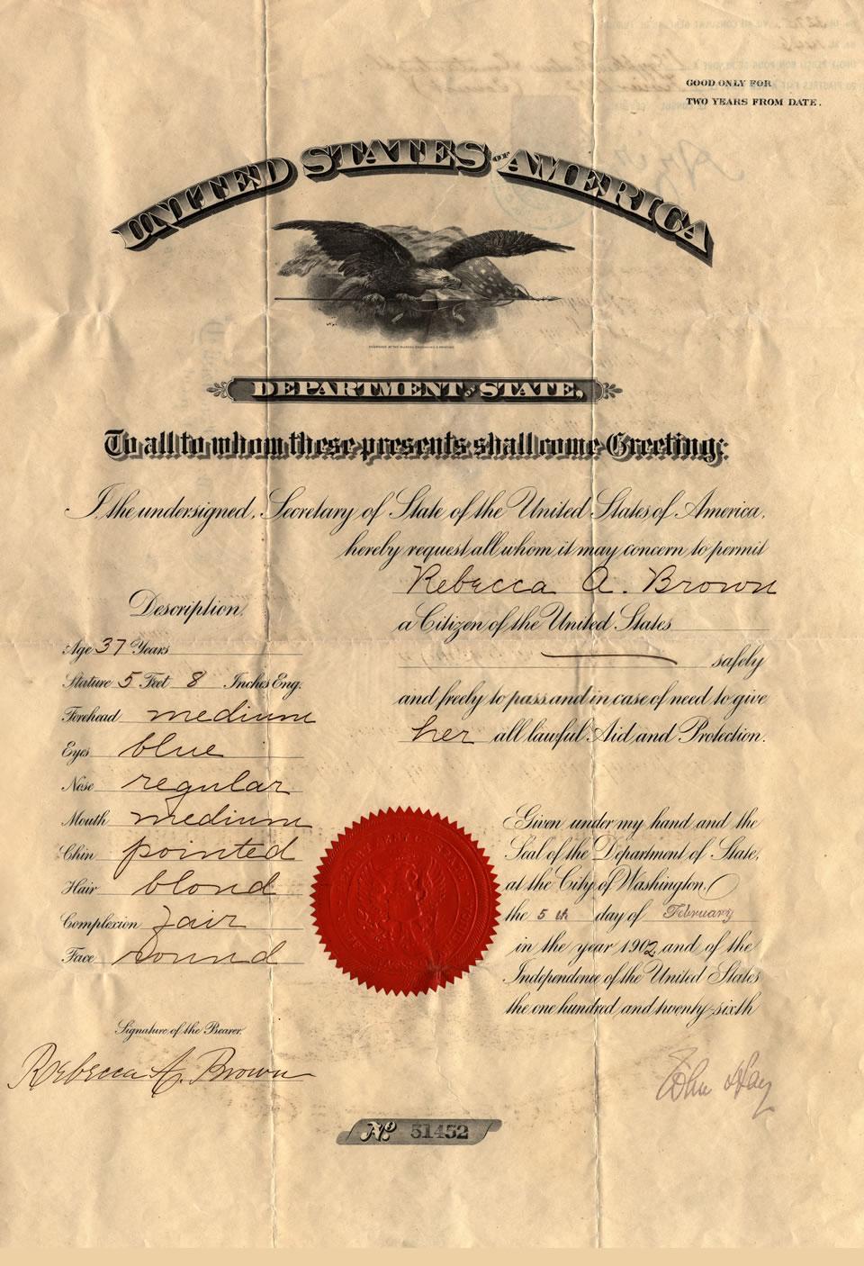 Bettie Brown's Passport