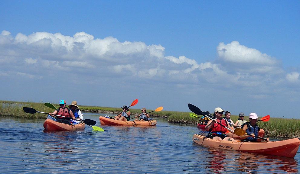 Kayaking Coastal Heritage Preserve