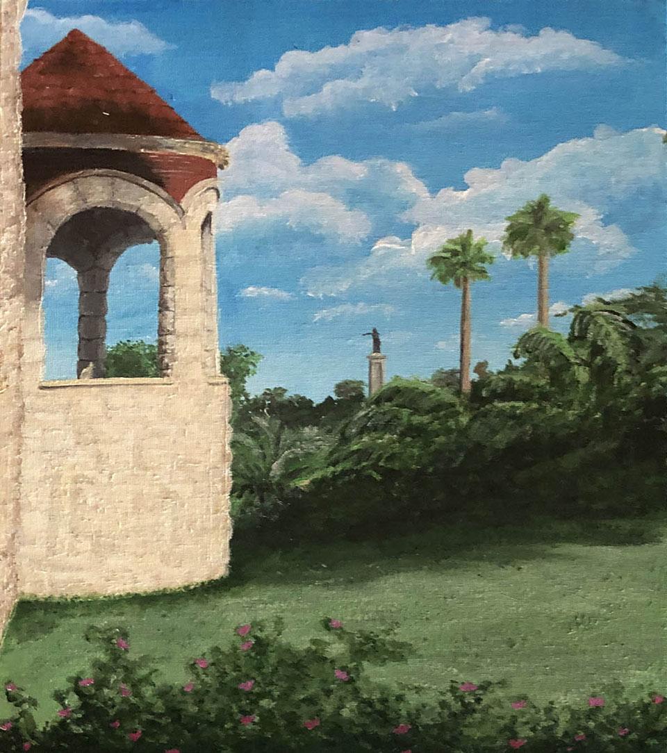 Moody Mansion in Green by Gabriela Flores Gonzalez