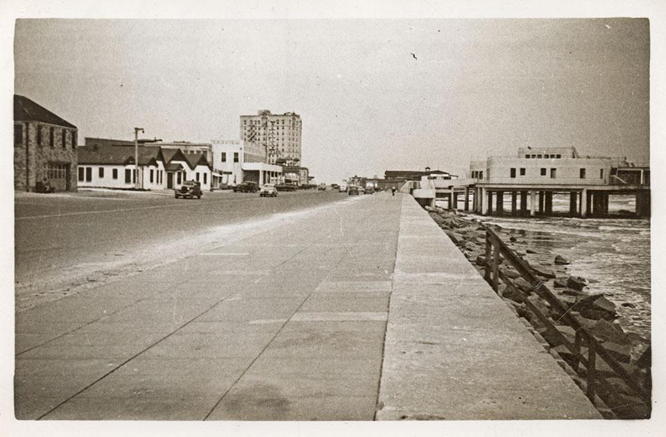 Seawall in 1943