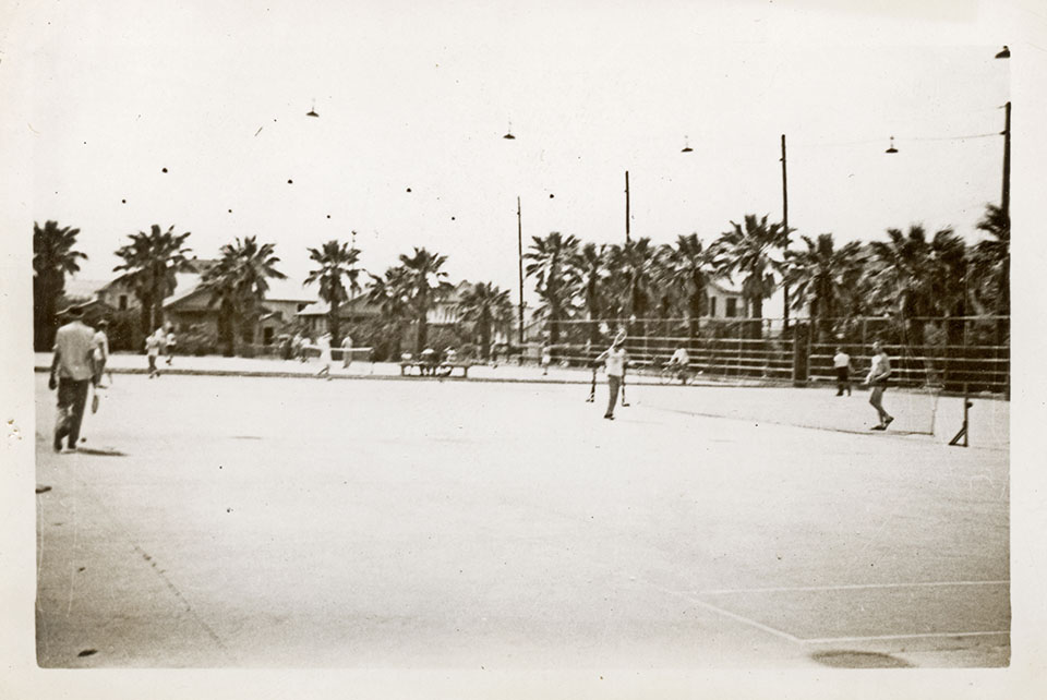 Tennis Courts in 1943