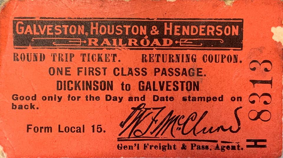 1914 Railroad Ticket