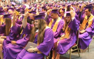 Ball High Student Graduation