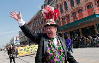 Reveler Celebrate Mardi Gras During Parade
