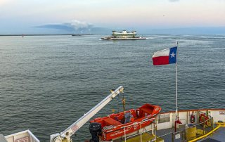 Bolivar Ferry From a Distance
