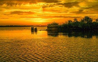 A Glorious Summer Sunset on Galveston Island