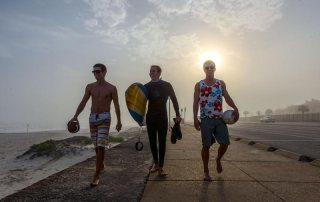 Football, Surfing, & Volleyball