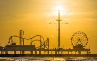 Sunrise Over Galveston Island Historic Pleasure Pier