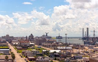 Aerial View of the Port of Galveston