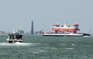 Bolivar Ferry Near the Lighthouse