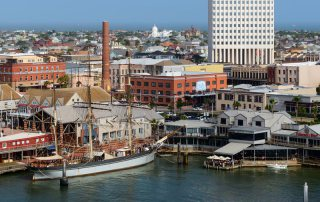 Aerial View of Downtown Galveston