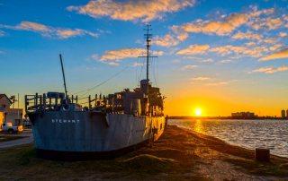 Sunrise Over Galveston Naval Museum