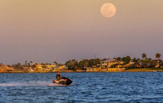 Jetski with the Moon