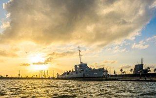 Sunset Over Galveston Naval Museum