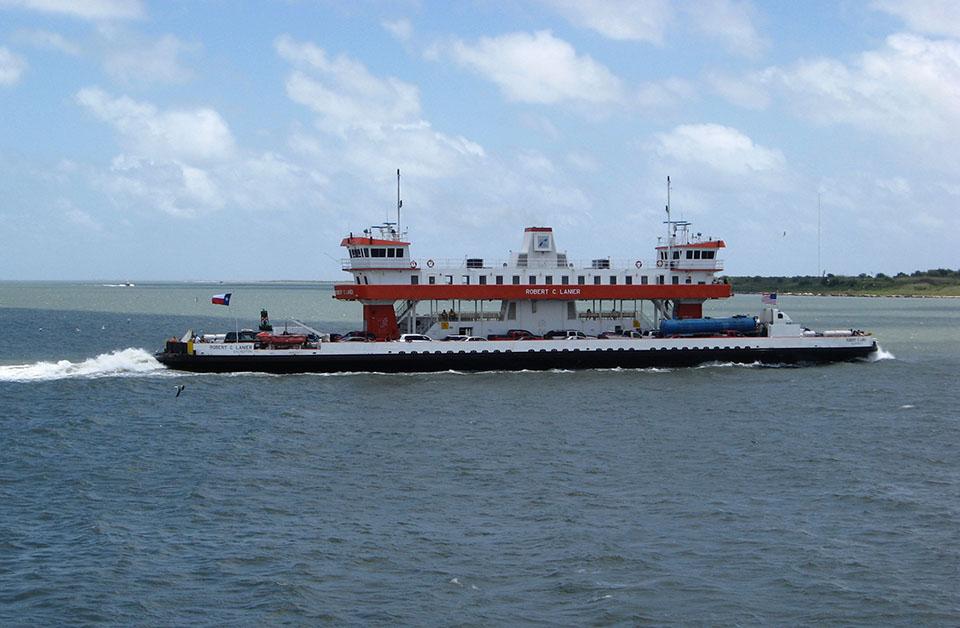 Ferry Vessel Crossing Bolivar Roads