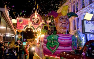 Dazzling Float Parades Past The Tremont House