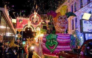 Dazzling Float Parades Past The Tremont House