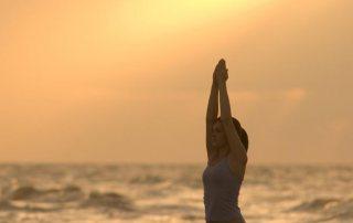 Morning Yoga on East Beach