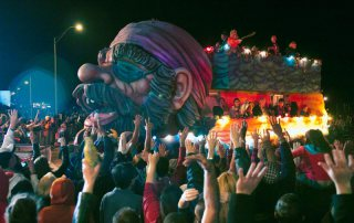 Float Passes During Mardi Gras Parade