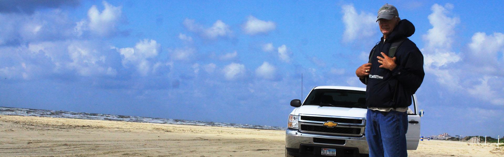 Steve Alexander on Beach