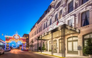 The Tremont House with Mardi Gras Arch