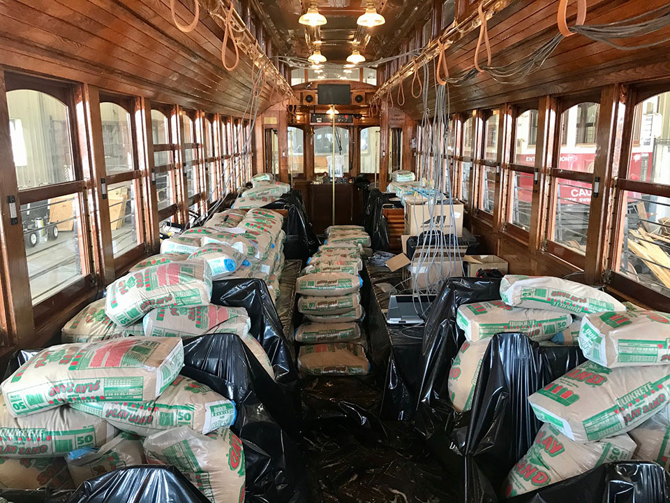 Trolley 501 Loaded with Sandbags