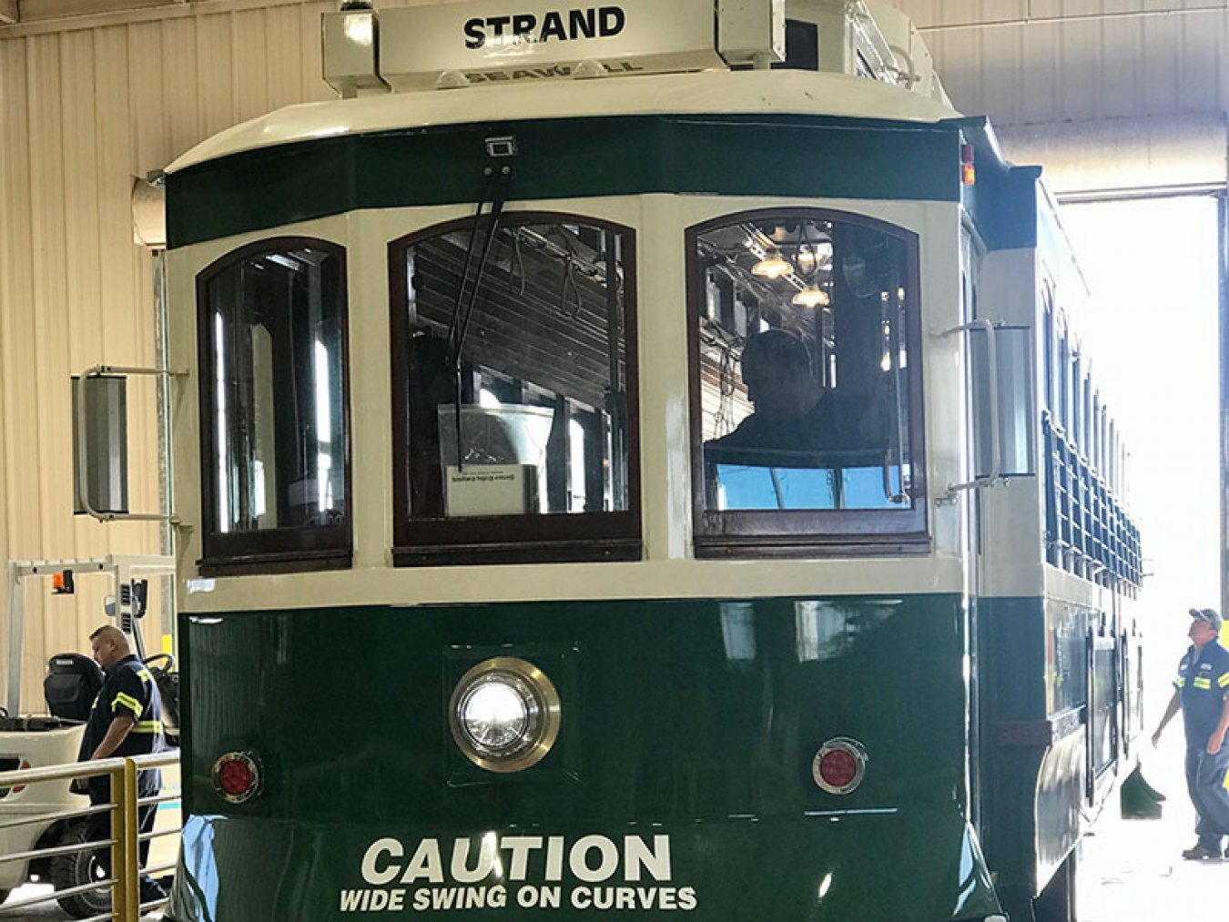 Trolley 501 at Trolley Barn