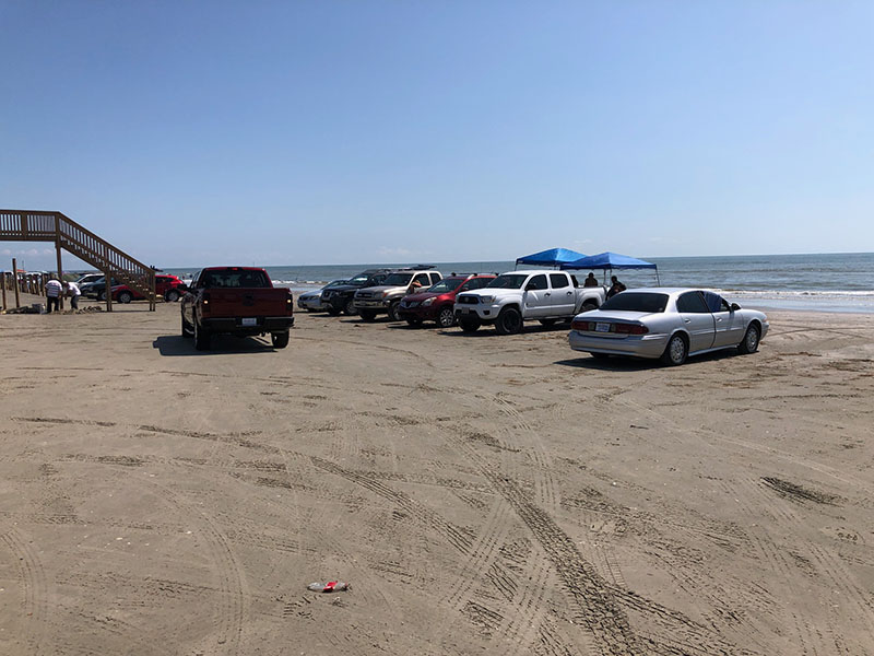 Beach Access Point 10 at Hershey Beach - Parking to the East