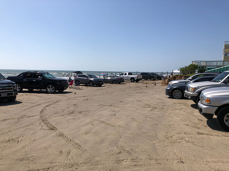 Beach Access Point 10 at Hershey Beach - Parking to the West