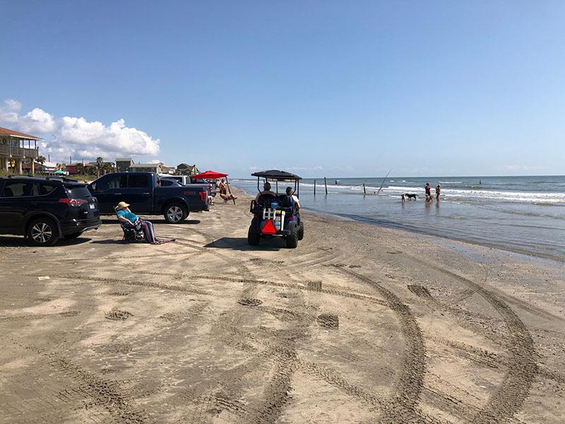 Beach Access Point 12 at Bermuda Beach - Parking on Beach